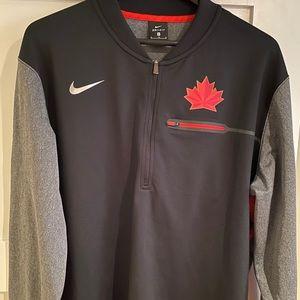 Team Canada Nike Men's XL Dri-Fit half-zip shirt